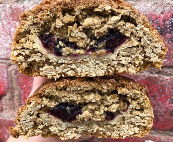Saskatoon Berry Pie Oatmeal Cookie
